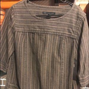 Marc Jacobs Black Brown Jean Style Blouse